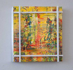 Hidden Colours #2 Acryl auf Aludibond und lu-4-Kantrohren 51,4 x 51,4 x 6,3 cm 2014
