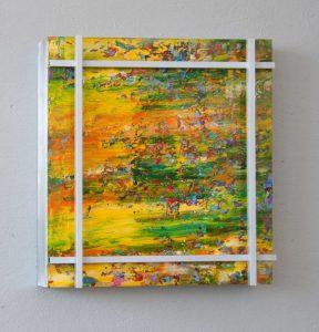 Hidden Colours #1 Acryl auf Aludibond und lu-4-Kantrohren 51,4 x 51,4 x 6,3 cm 2014