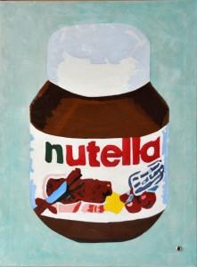 Nutella Öl auf Leinwand 100 x 80 cm