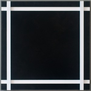 Manhattan (weiß-schwarz) Acryl auf Aludibond und Alu-4-Kantrohren 34 x 34 x 7,3 cm 2016